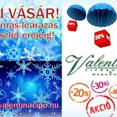 Téli Vásár! Akciós csizmák cipők a legjobb áron a Valentina Cipőboltokban és Webáruházunkban!