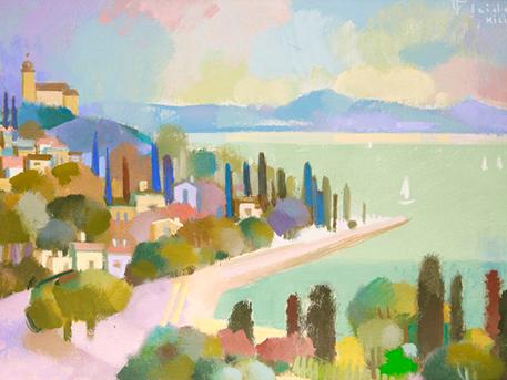 P.J. festménye, Tihany - a Pintér aukciósház kollekciójából