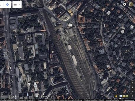 Kép: google maps, TE és Déli pályaudvar
