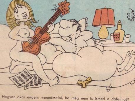 Balázs-Piri Balázs karikatúrája a számítógép-korszak kezdetén