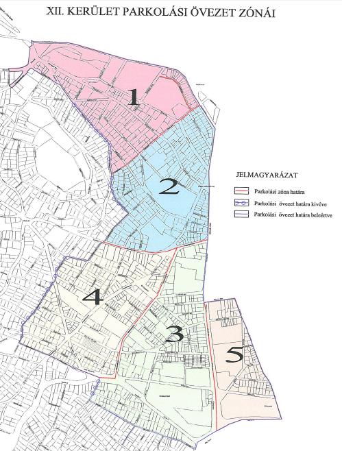 budapest 12 ker térkép XII. kerület   Hegyvidék | Térkép a parkolási zónákról és a díjakról budapest 12 ker térkép