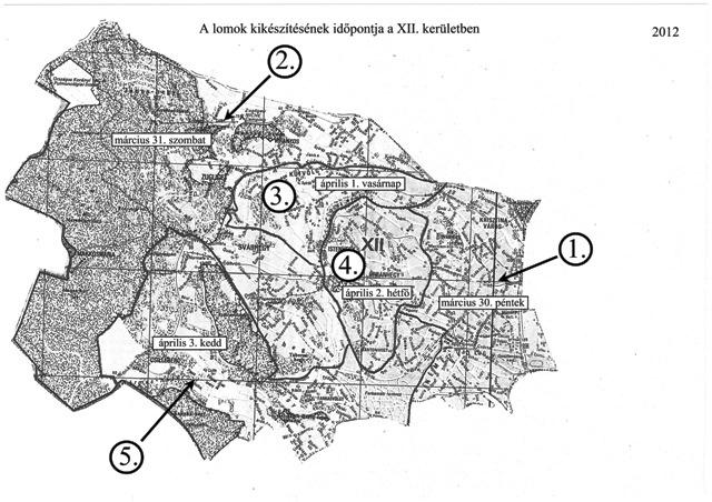 budapest térkép 12 kerület XII. kerület   Hegyvidék | Lomtalanítási start   térkép, idők  budapest térkép 12 kerület