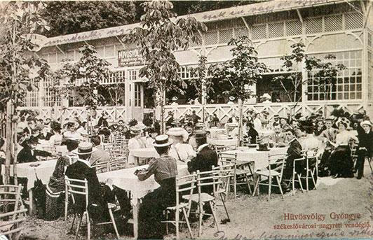 A nagyréti vendéglő valamikor a múlt század fordulójáról, forrás: Manda