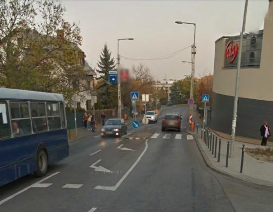 A baleset helyszíne a Lóitatónál (forrás: Google)