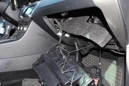 Az ellopni akart kocsi műszerfala (forrás: police.hu)
