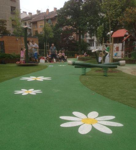 A Margaréta utcai felújított játszótér (fotó: ittlakunk.hu)