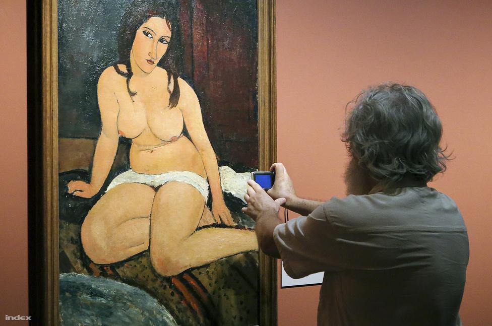 Modigliani egyik aktja (forrás: Index, Cseke Marianna)