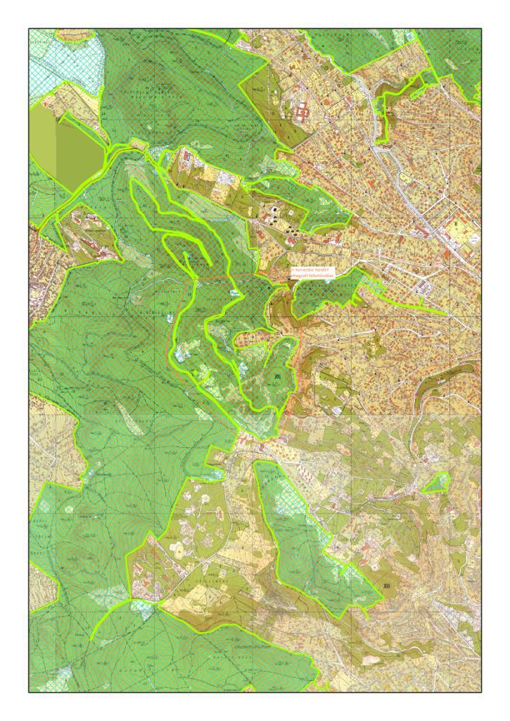 A Natura2000 védelme alatt álló területek a Normafánál (forrás:avorbenedek.blog.hu)
