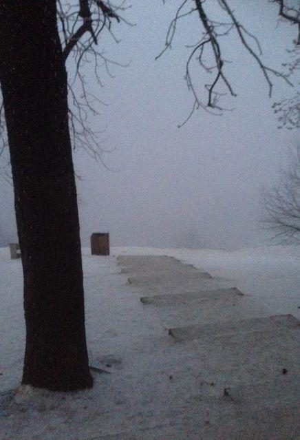 Havas januári kilátás a Normafától
