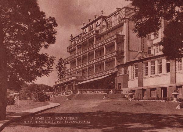 A Svábhegyi Szanatórium épülete az Eötvös úton
