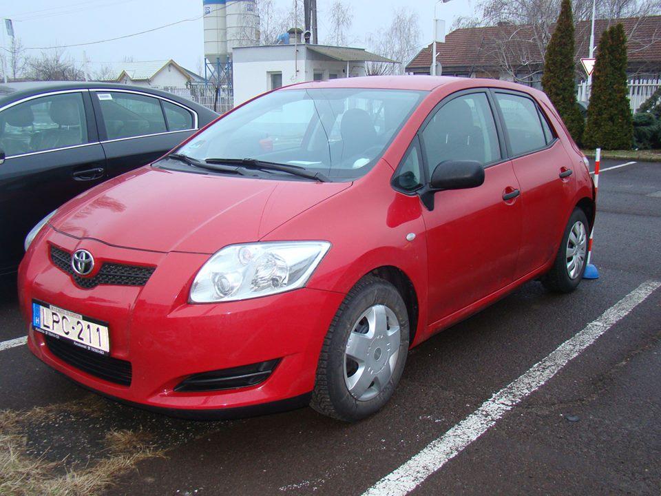 A Fodor utcából ellopott Toyota Auris