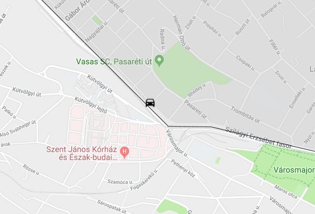 A baleset helyszíne (fotó: Google)